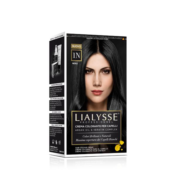 Crema colorante per capelli con Cheratina ed Olio di Argan 1n